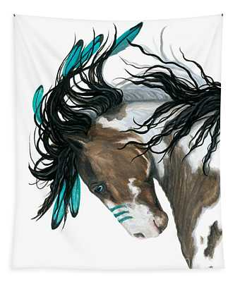 Majestic Turquoise Horse Tapestry