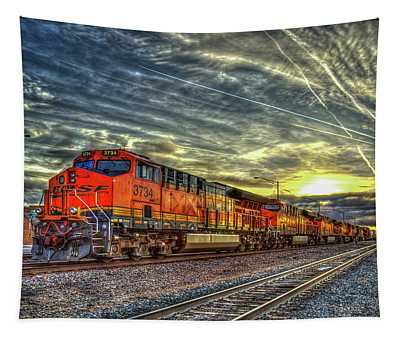 Make Way Resting B N S F Train Gallup New Mexico Art Tapestry