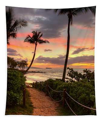 Makena Sunset Path Tapestry
