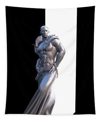 Male Warrior Lamp Tapestry