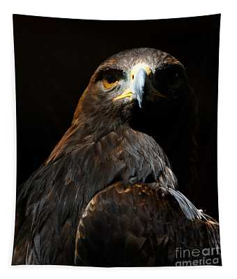 Maleficent Golden Eagle Tapestry