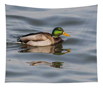 Mallards And Reflection Tapestry