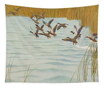 Mallards In Autumn Tapestry