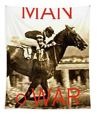 Man O War, A Legend Like Lightning Tapestry