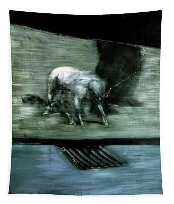 Man With Dog  Tapestry