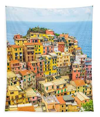 Manarola Cinque Terra City Tapestry