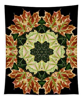 Mandala Autumn Star Tapestry
