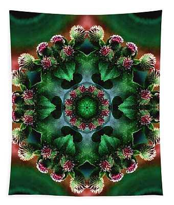 Mandala Bull Thistle Tapestry