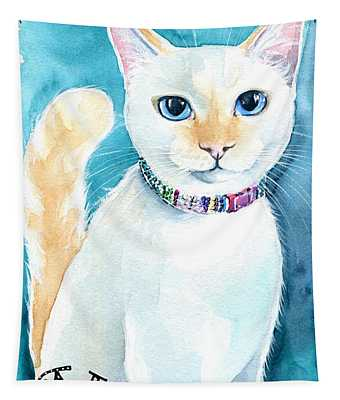 Mango - Flame Point Siamese Cat Painting Tapestry