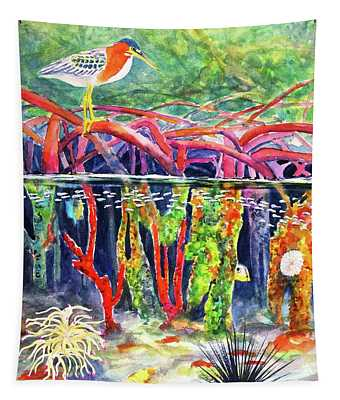 Mangrove Above And Below Tapestry