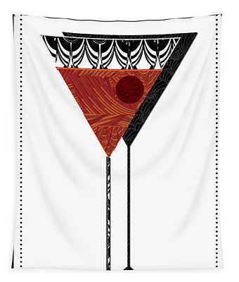 Manhattan Cocktail Pop Art Deco Tapestry