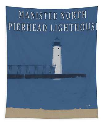 Manistee Lighthouse Poster Tapestry