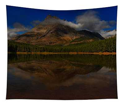 Many Glacier Fisher Cap Panorama Tapestry