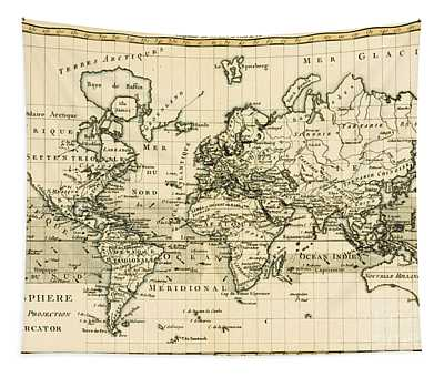Map Of The World Using The Mercator Projection Tapestry