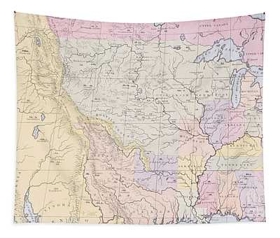 Map Showing The Localities Of The Indian Tribes Of The Us In 1833 Tapestry