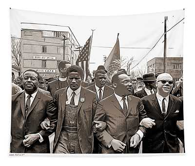 March Through Selma Tapestry