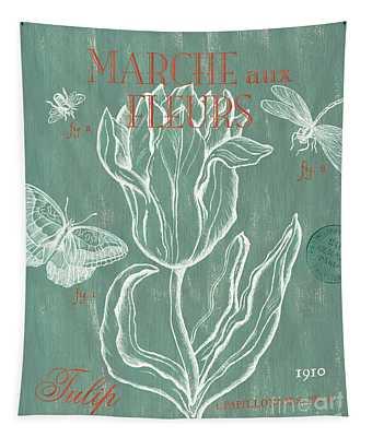 Marche Aux Fleurs Tapestry