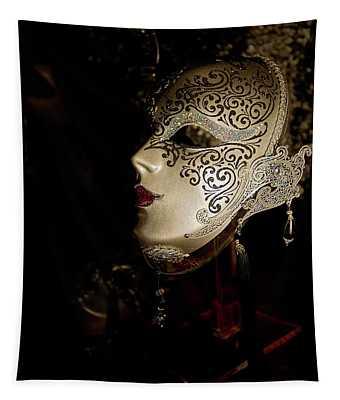 Mardi Gras Mask Tapestry