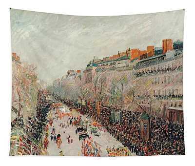 Mardi Gras On The Boulevards Tapestry