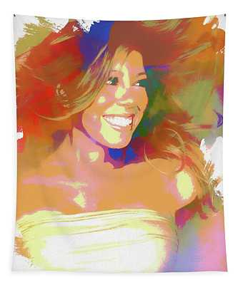 Mariah Carey Watercolor Tapestry