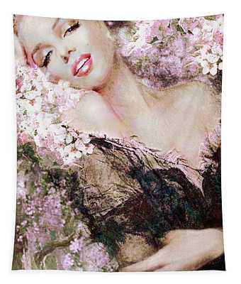 Marilyn Cherry Blossom B Tapestry