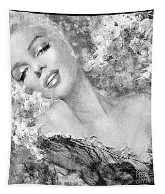 Marilyn Cherry Blossom Bw Tapestry