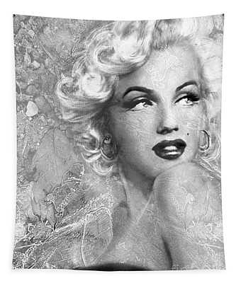 Marilyn Danella Ice Bw Tapestry