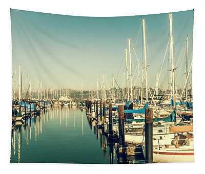 Marinaside Sausalito California Tapestry