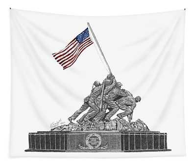 Marine Corps War Memorial - Iwo Jima Tapestry