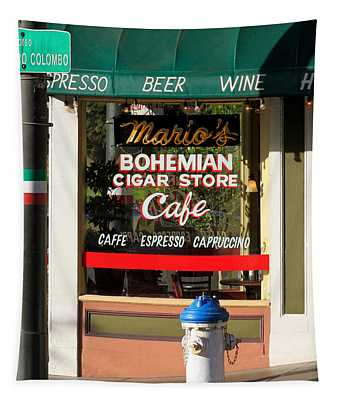 Mario's Bohemian Cigar Store Cafe Tapestry
