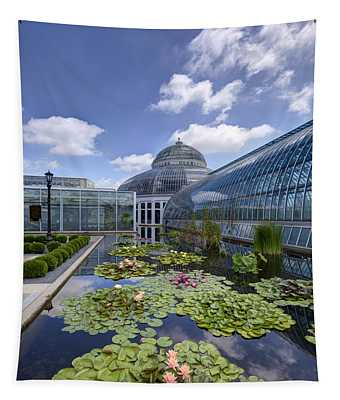 Marjorie Mcneely Conservatory At Como Park And Zoo Tapestry