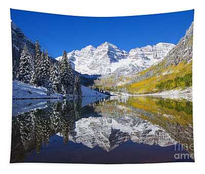 Maroon Lake And Bells 1 Tapestry