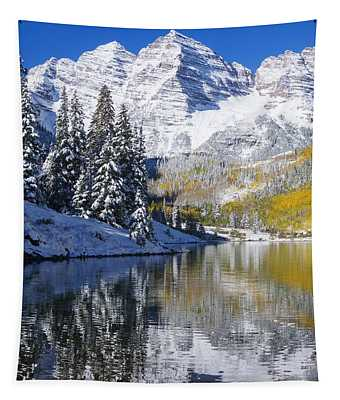 Maroon Lake And Bells 2 Tapestry