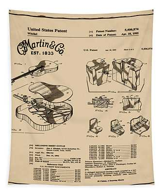 Martin Guitar Patent Dx1 1995 Sepia Tapestry