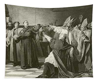 Martin Luther Before The Council Of Worms  Tapestry