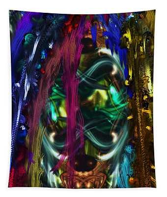 Mask Of The Spirit Guide Tapestry
