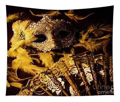 Mask Of Theatre Tapestry
