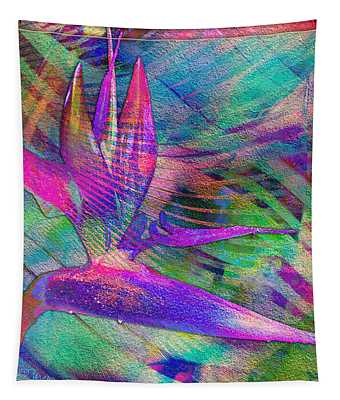 Maui Bird Of Paradise Tapestry