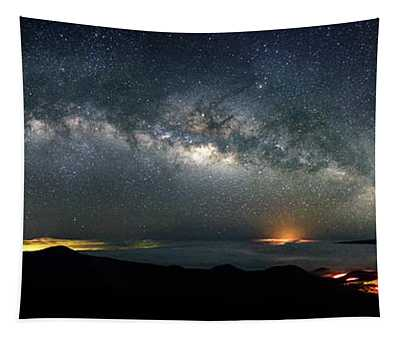 Mauna Kea Milky Way Panorama Tapestry
