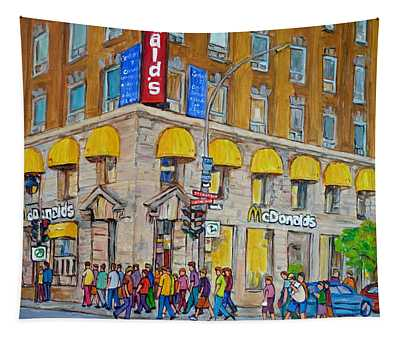 Mcdonald Restaurant Old Montreal Tapestry