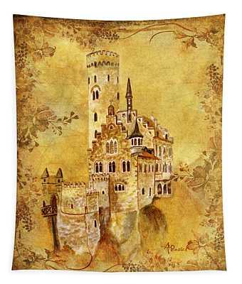 Medieval Golden Castle Tapestry