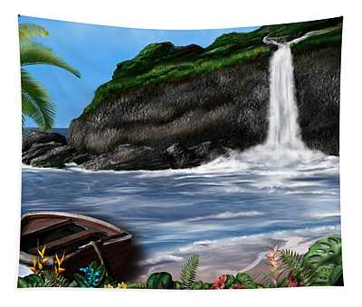 Meet Me At The Beach Tapestry