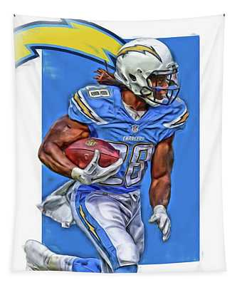 Melvin Gordon San Diego Chargers Oil Art Tapestry
