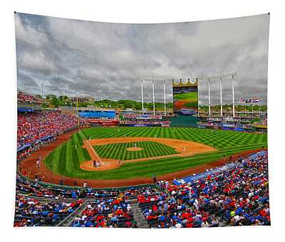 Memorial Day At Kauffman Stadium Tapestry