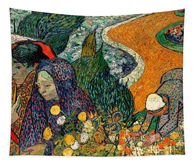 Tapestry featuring the painting Memory Of The Garden At Etten by Van Gogh