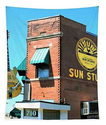 Memphis Sun Studio Birthplace Of Rock And Roll 20160215 Square Tapestry