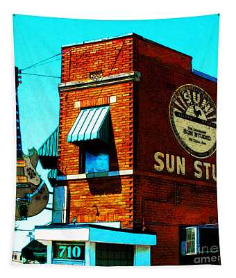 Memphis Sun Studio Birthplace Of Rock And Roll 20160215sketch Sq Tapestry