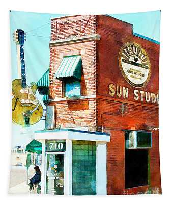 Memphis Sun Studio Birthplace Of Rock And Roll 20160215wcstyle Tapestry