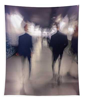 Men In Suits Tapestry