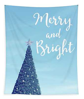 Merry And Bright - Art By Linda Woods Tapestry